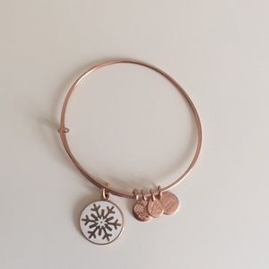 Alex and Ani Rose Gold Snowflake Charm